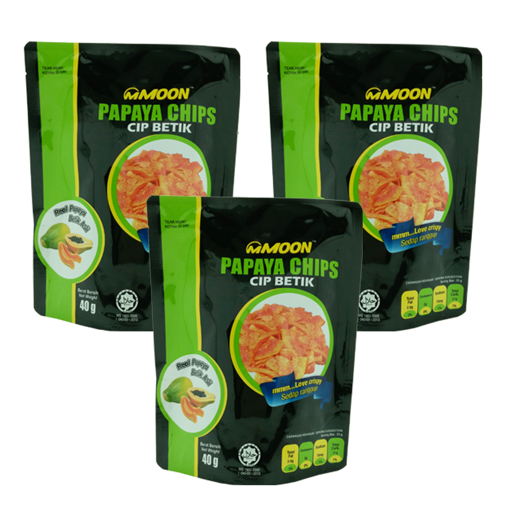 3_mMOON papaya chips_Healthy snacks Malaysia_Malaysia fruit chips_dried fruits